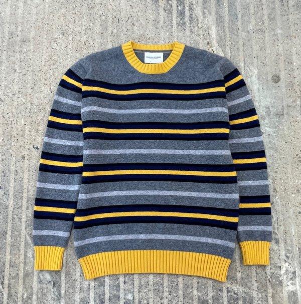 Country of Origin Multi-Stripe Crew Sweater - Yellow