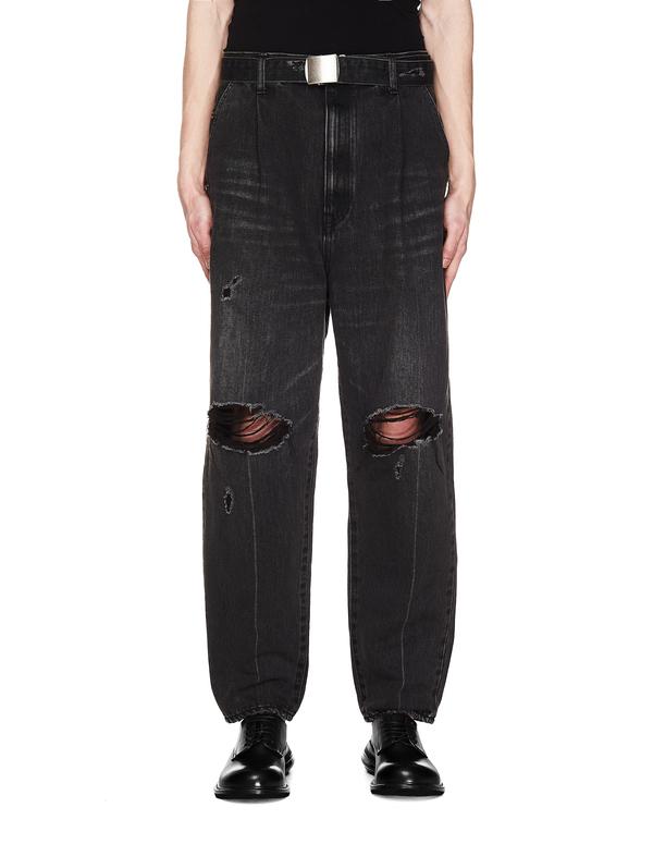Doublet Cut Out Jeans - Grey