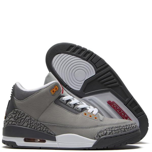 Jordan 3 Retro Silver / Sport Red