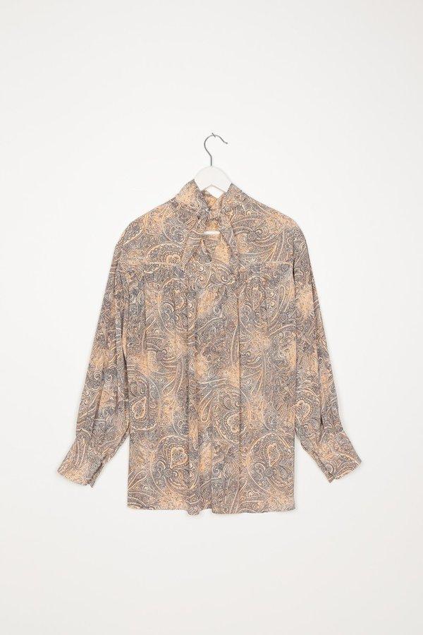 Paisley Scarf Collar Blouse