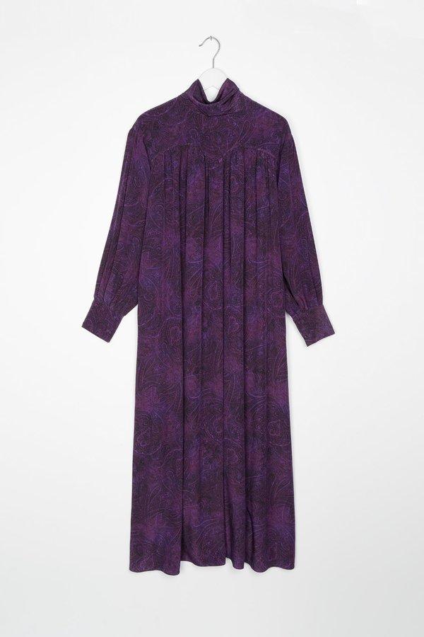 Sayaka Davis Paisley Scarf Collar Long Dress