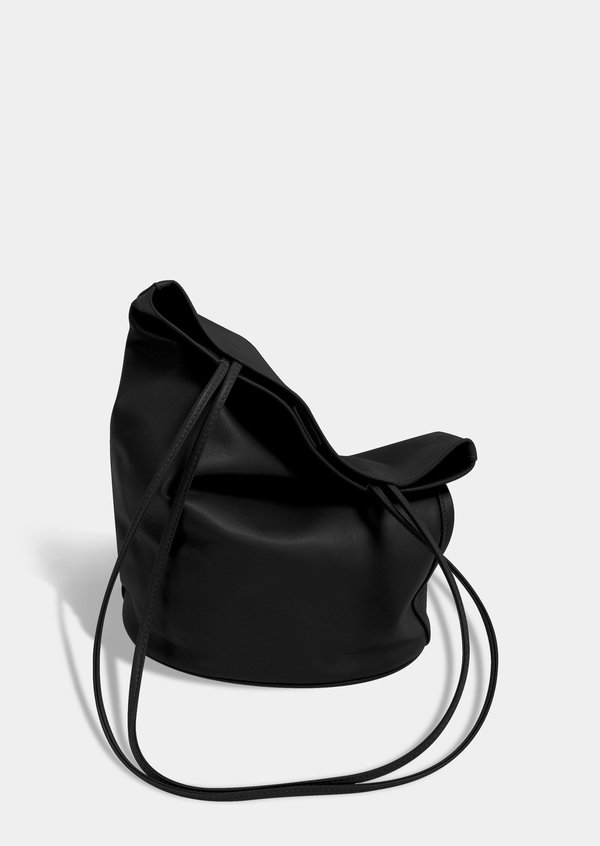 Modern Weaving Drape Oval Bucket - Black