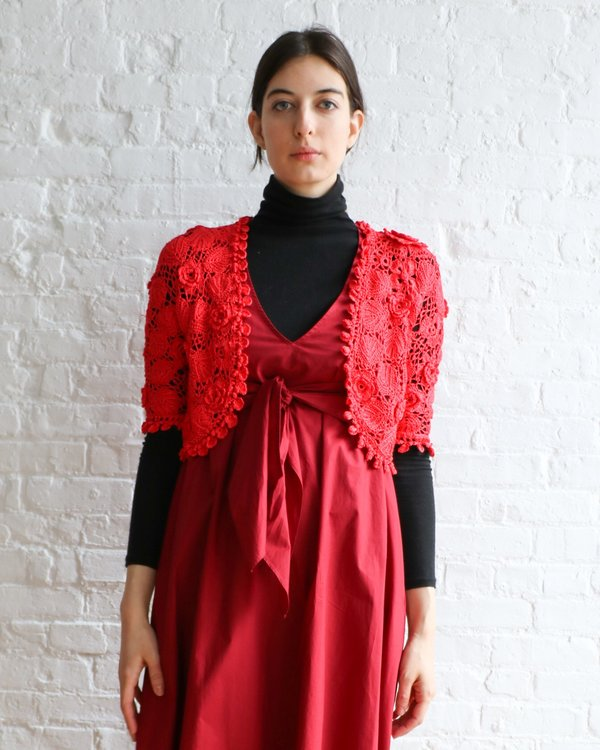 Oscar de la Renta Lace Knit Shrug, Size S