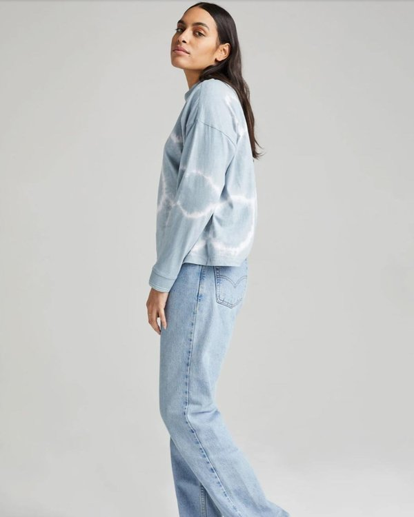 Richer Poorer Relaxed Long Sleeve Tee - Blue Mirage