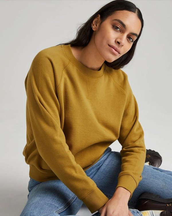 Richer Poorer Recycled Fleece Sweatshirt - Golden Verde