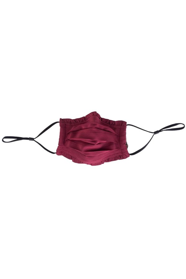 Gilber Gilmore Ruffle Face Mask - Wine