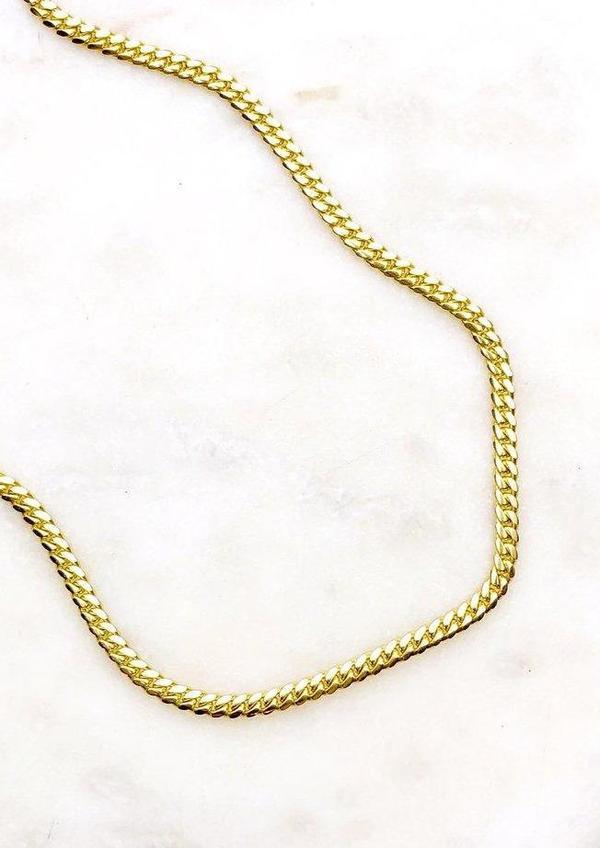 Samantha Knight Cuban-link Gold Chain - 14k YG