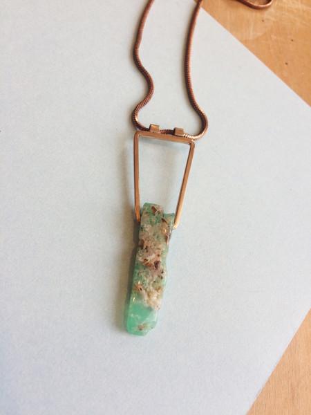 Beach Bones Geo Necklace Bronze