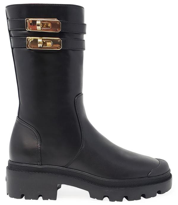 Madison Maison By Palladium Shearling Double Buckle Boot - Black