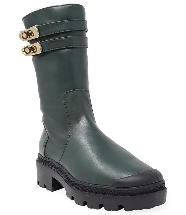 Madison Maison by Palladium Madison Shearling Double Buckle Boot - Olive Green
