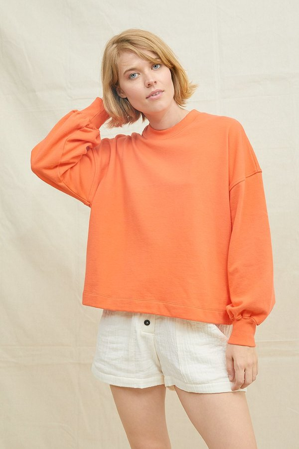 SECONDS- Recycled Cotton Puff Sleeve Sweatshirt