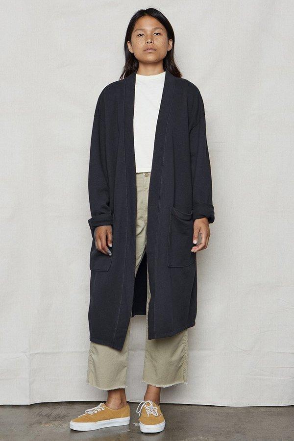 SECONDS- Vintage Black Hemp Sweater Robe
