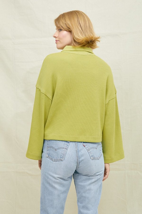 SECONDS-Sport Waffle Knit Sweatshirt