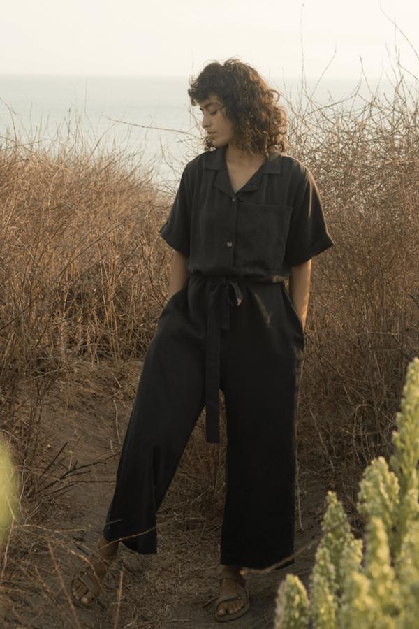 SECONDS-Tencel Pajama Jumpsuit