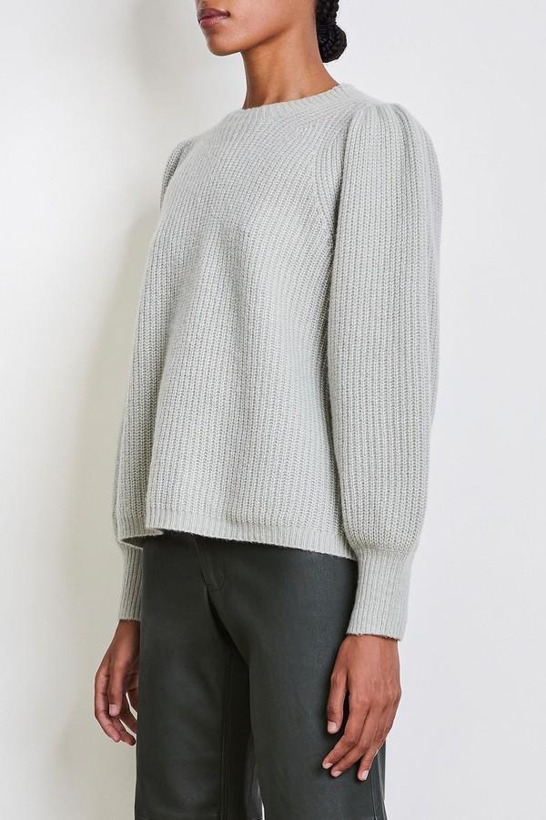 Apiece Apart Arne Puff Sleeve Sweater - Grey