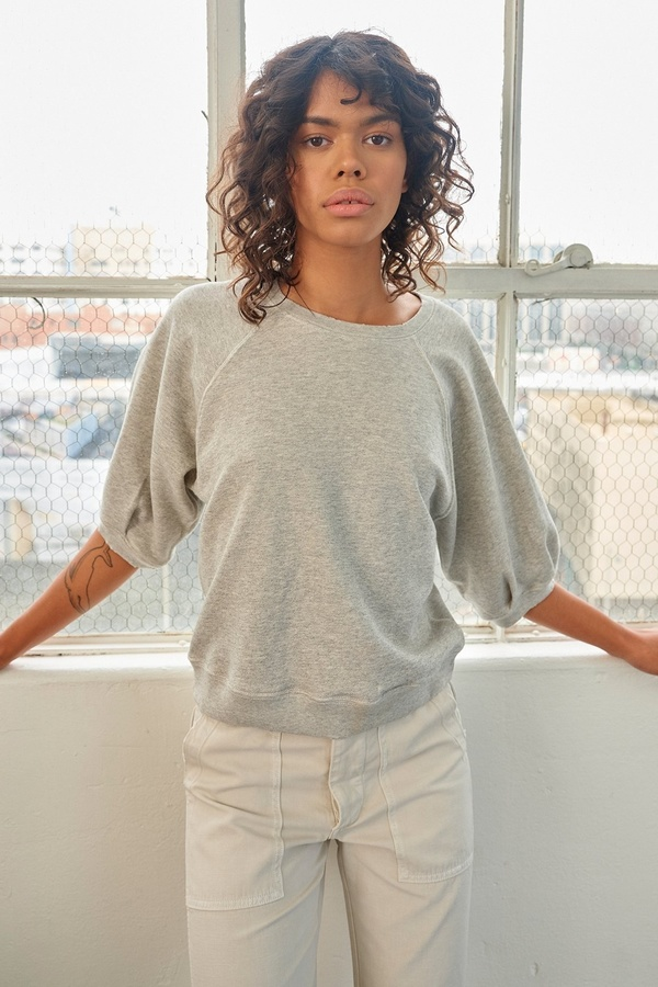 amo denim Puff Sleeve Sweatshirt - Grey