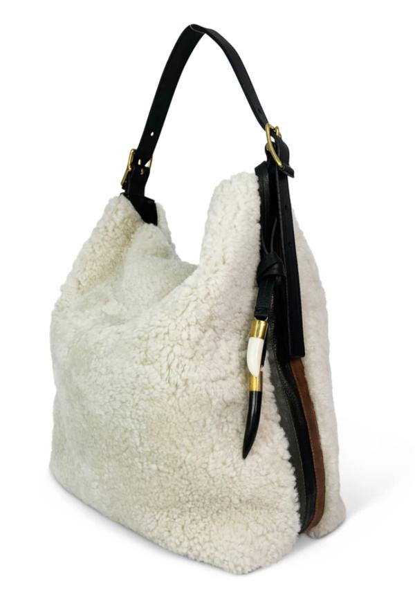 Kempton & Co Natural Shearling Somerset bag