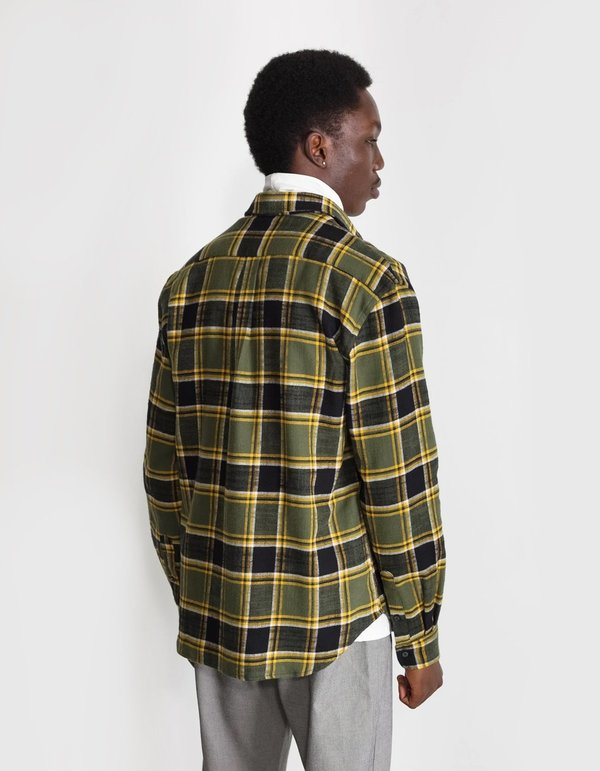 National Standards Japanese Billy Plaid Relaxed Fit Shirt - Green/Black