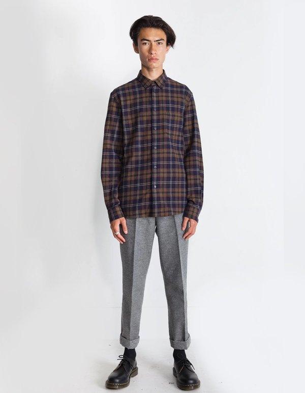 National Standards Japanese Owen Plaid Shirt - Black/Green