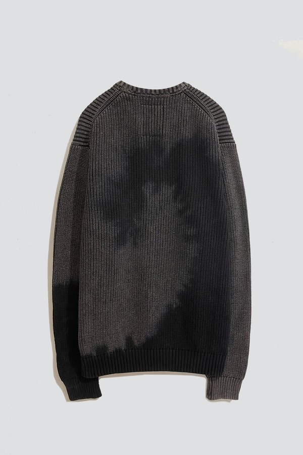 Assembly Dark Knit Tie Dye Sweater - Grey