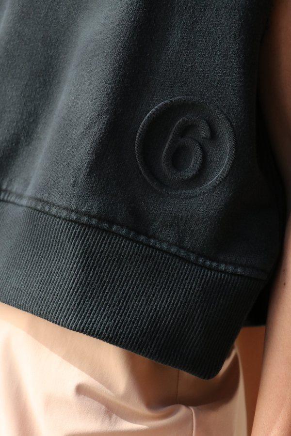 MM6 Maison Margiela Spliced Sweatshirt Dress - Black/Nude