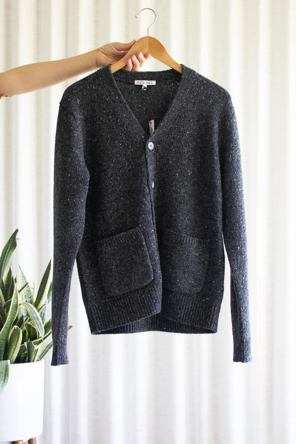 Alex Mill Donegal Cardigan in Charcoal