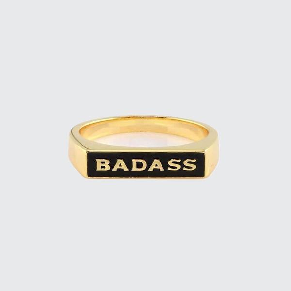 Kris Nations Badass Enamel Ring - BLK
