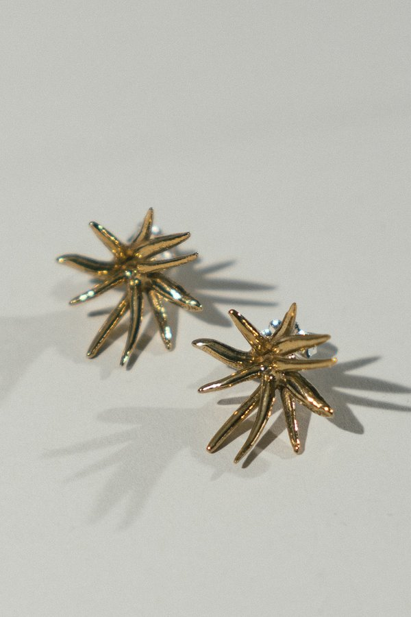 Kari Phillips Imoogi Stud Earrings - Brass
