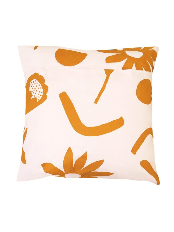 Mosey Me Floral Dreams Euro Pillowcase Set - Lavender & Mustard