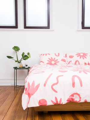 Mosey Me Floral Dreams Quilt Cover Set - Ink & Musk