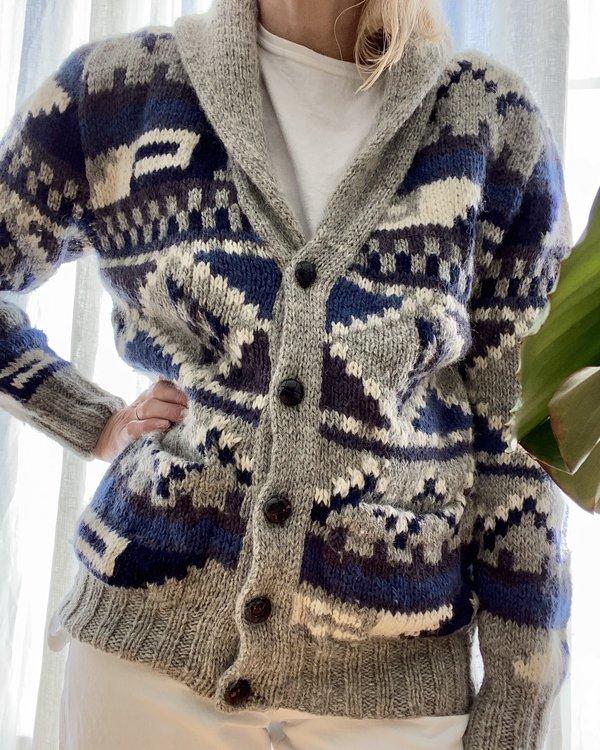 VINTAGE Woolrich Geometric Wool Cardigan