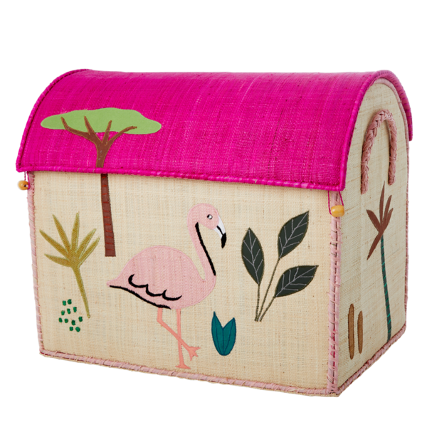Kids Rice Large Toy Basket - Jungle Design
