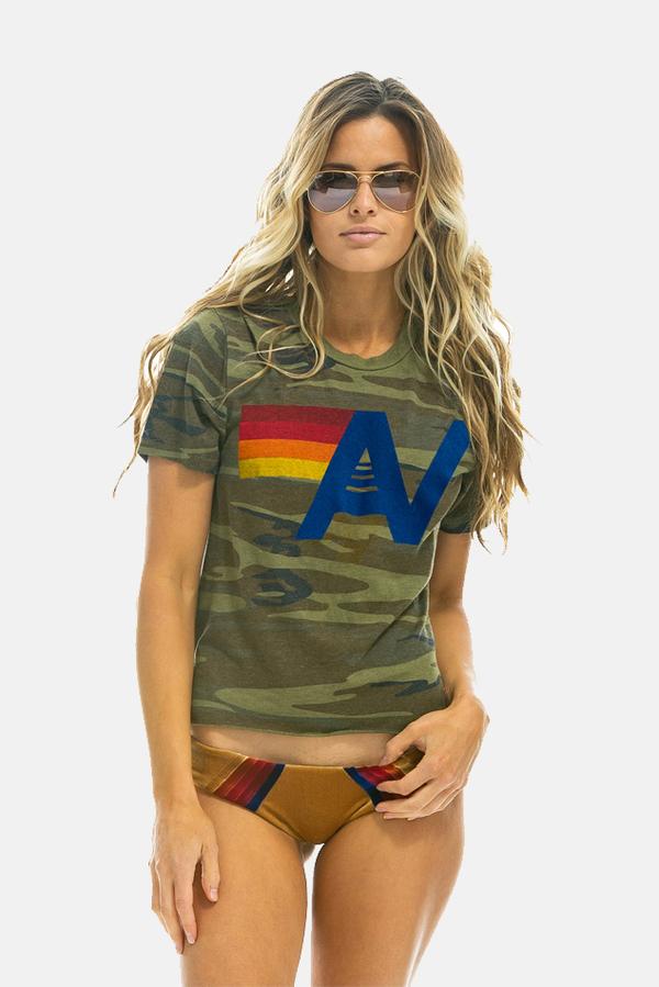 Aviator Nation AV Logo Boyfriend T-Shirt - Camo