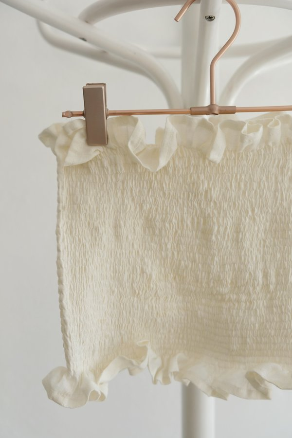 OhSevenDays Cropped Tube Top - cream