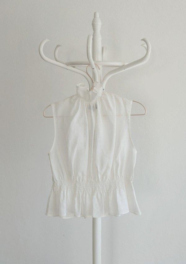 OhSevenDays Monday Ruff Blouse - white