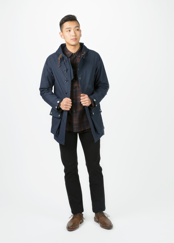 d5652c43af57 Men s Nigel Cabourn Motorbike Army Coat - Navy