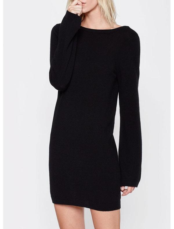 Equipment Baxley Boatneck Dress - Black