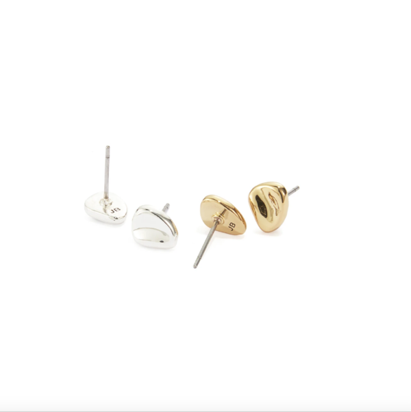 Jenny Bird Beach Nugget Studs - Two-Tone