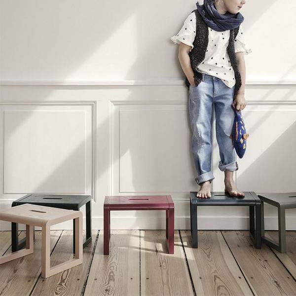 Kids Ferm Living Little Architect Stool - Grey