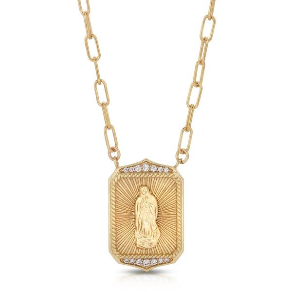 Joy Dravecky Madonna Pendant Necklace - Gold