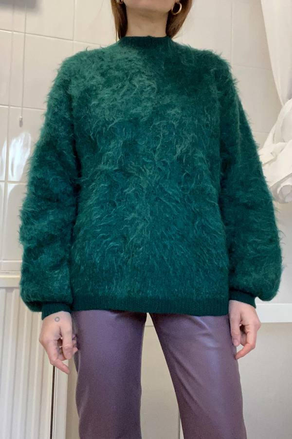 Hand knitted Mohair Jumper