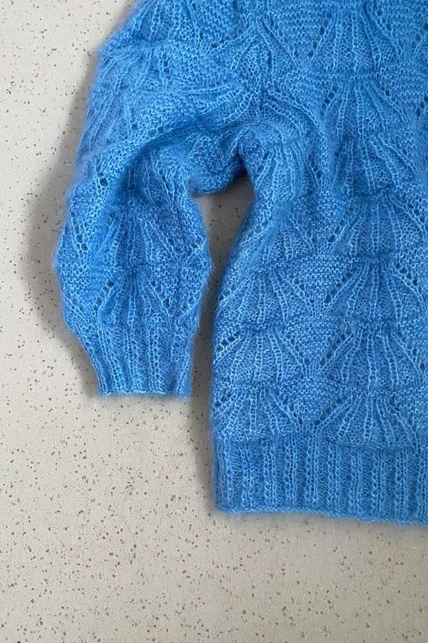Hand knitted Oversized Mohair Jumper