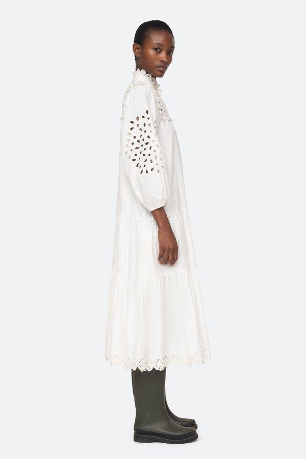 Sea NY Hazel Eyelet Button Down Dress - White