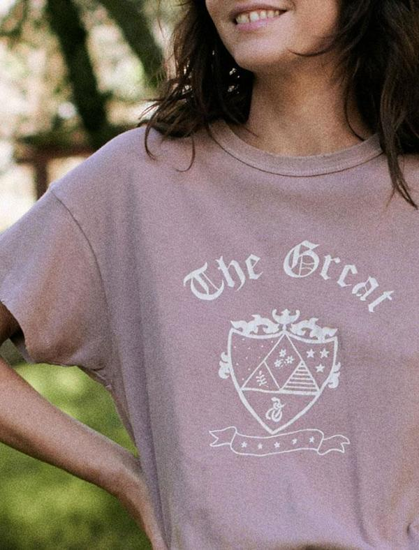 The Great. Boxy Crew With Crest Graphic