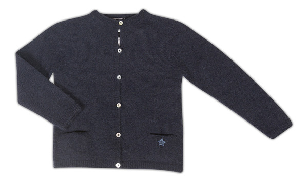 6fa86cfb2532 Kid s Tocoto Navy Knitted Cardigan- CouCou Boston