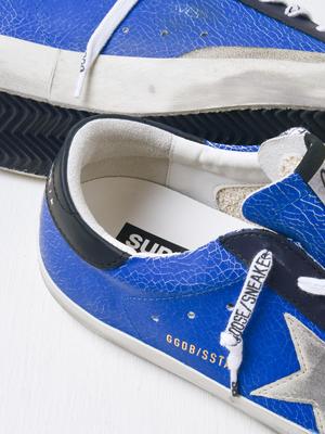 Golden Goose SUPERSTAR LEATHER SNEAKER - BLUE/ICE/BLACK