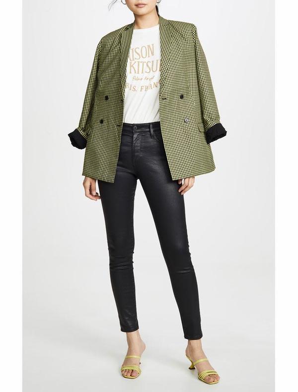 AG Jeans Farrah Skinny Ankle Jeans - Leatherette