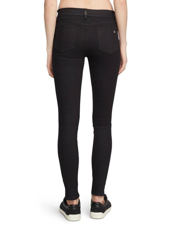 Rag & Bone Hyde Leather Denim Pants - Black/Dark Indigo