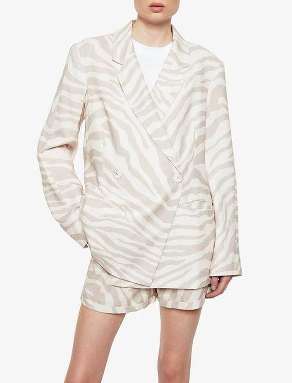 Anine Bing Kaia Blazer - sand zebra