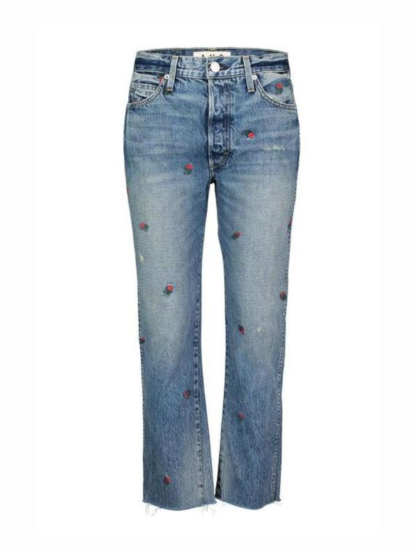 amo denim Loverboy jeans - Rosebud Embroidery